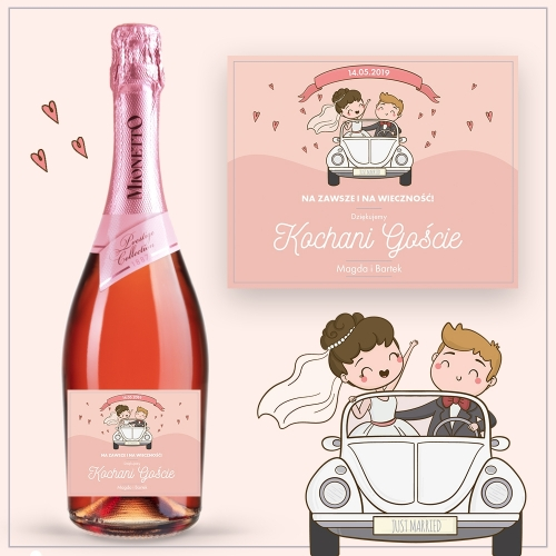 JUST MARRIED PROSECCO MIONETTO ROSÉ