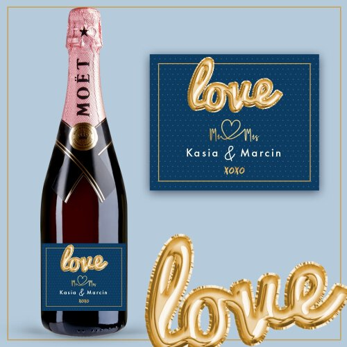 LOVE MR&MRS SZAMPAN MOËT & CHANDON ROSE IMPERIAL