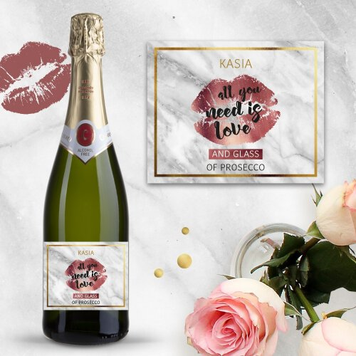 ALL YOU NEED IS LOVE AND PROSECCO BEZALKOHOLOWE WINO MUSUJĄCE CODORNIU ZERO