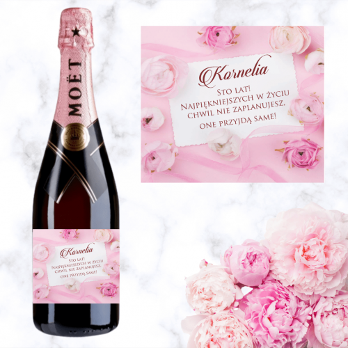 PIWONIE SZAMPAN MOËT & CHANDON ROSE IMPERIAL