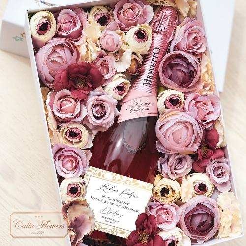 PODZIĘKOWANIA MIONETTO ROSÉ FLOWER BOX BY CALLA