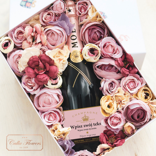 MOËT & CHANDON ROSE IMPERIAL FLOWER BOX NA KAŻDĄ OKAZJĘ
