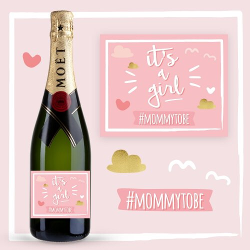 IT'S A GIRL SZAMPAN MOËT & CHANDON BRUT IMPERIAL
