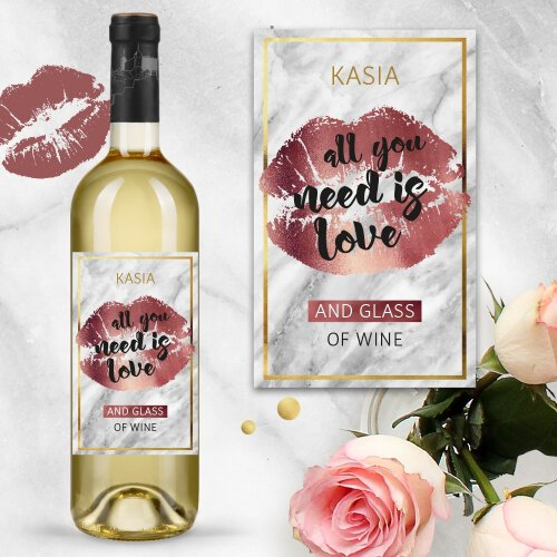 ALL YOU NEED IS LOVE AND WINE WINO SAN JUAN BIAŁE