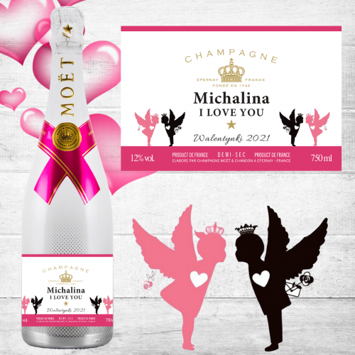 MIŁOSNY SZAMPAN MOET & CHANDON ICE IMPERIAL ROSE