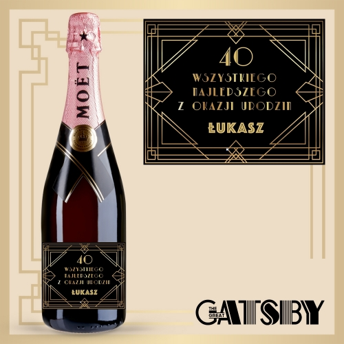 GREAT GATSBY! SZAMPAN MOËT & CHANDON ROSE IMPERIAL