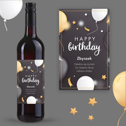 HAPPY BIRTHDAY WINO COCOON ZINFANDEL