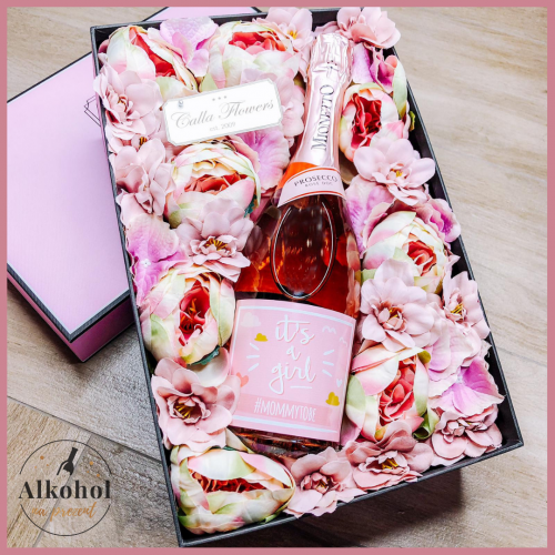IT'S A GIRL MIONETTO ROSE FLOWER BOX BY CALLA