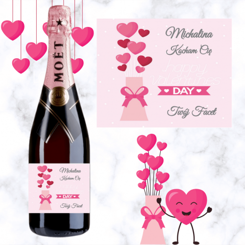 LOVE BALONY SZAMPAN MOËT & CHANDON ROSE IMPERIAL