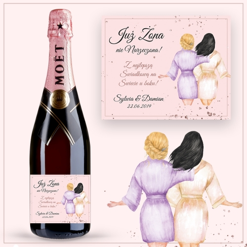 BEST FRIENDS SZAMPAN MOËT & CHANDON ROSE IMPERIAL