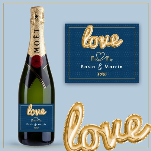 LOVE MR&MRS SZAMPAN MOËT & CHANDON BRUT IMPERIAL