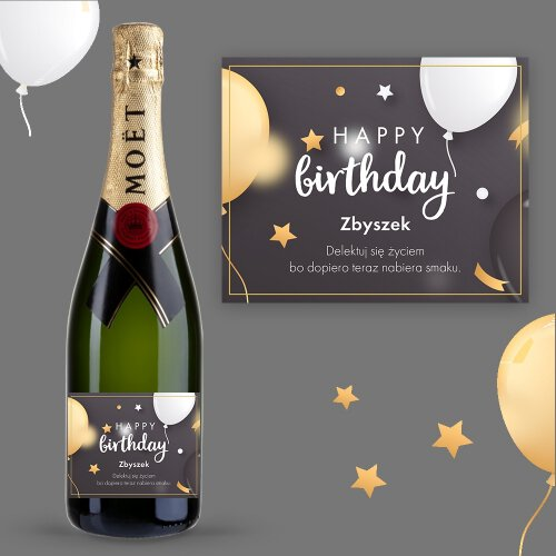 HAPPY BIRTHDAY SZAMPAN MOËT & CHANDON BRUT IMPERIAL