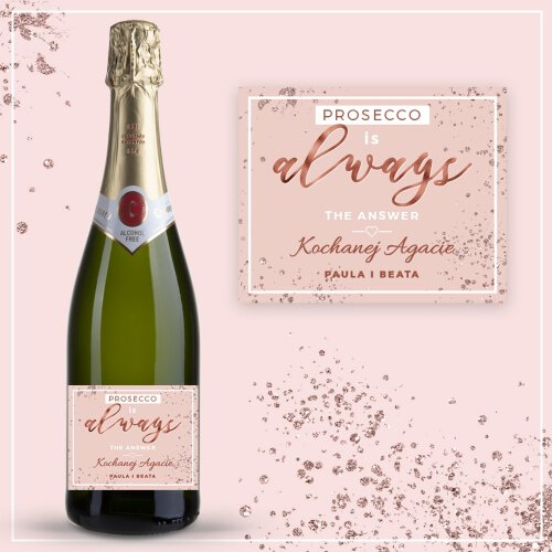 PROSECCO IS ALWAYS THE ANSWER BEZALKOHOLOWE WINO MUSUJĄCE CODORNIU ZERO