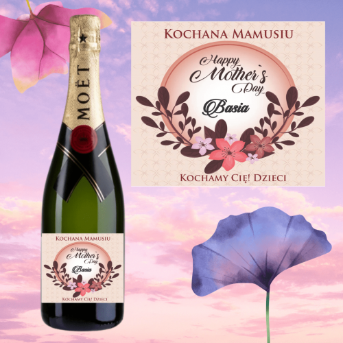 HAPPY MOTHER'S DAY SZAMPAN MOËT & CHANDON BRUT IMPERIAL