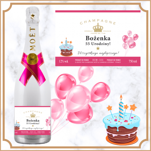 BALONY SZAMPAN MOET & CHANDON ICE IMPERIAL ROSE
