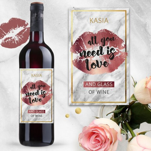ALL YOU NEED IS LOVE AND WINE WINO SAN JUAN CZERWONE