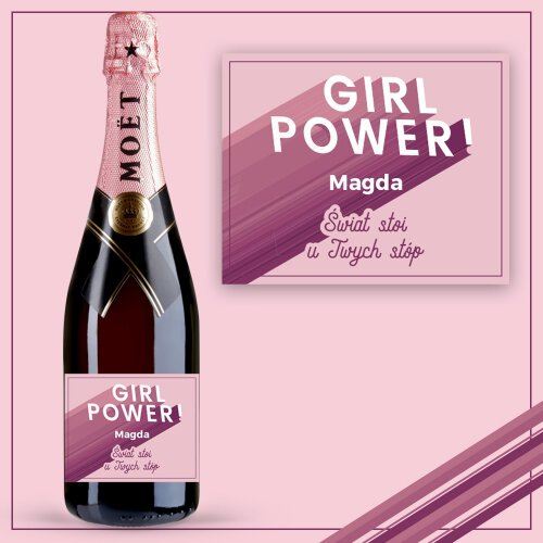 GIRL POWER SZAMPAN MOËT & CHANDON ROSE IMPERIAL