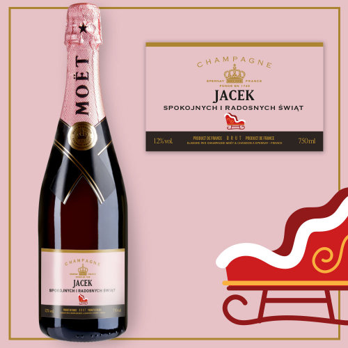 SANIE SZAMPAN MOËT & CHANDON ROSE IMPERIAL
