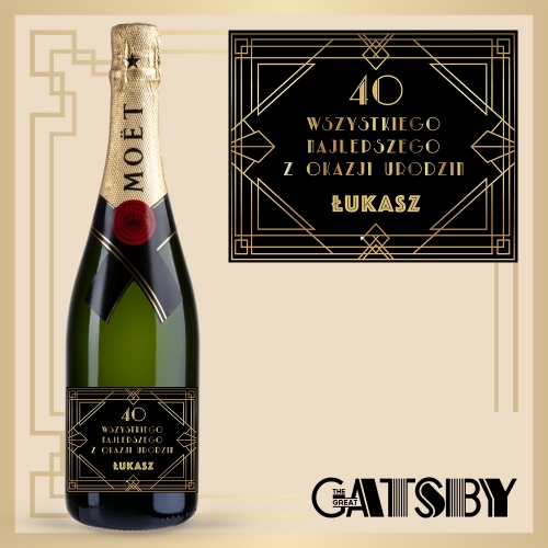 GREAT GATSBY! SZAMPAN MOËT & CHANDON BRUT IMPERIAL