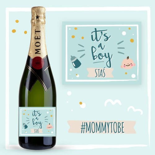 IT'S A BOY SZAMPAN MOËT & CHANDON BRUT IMPERIAL