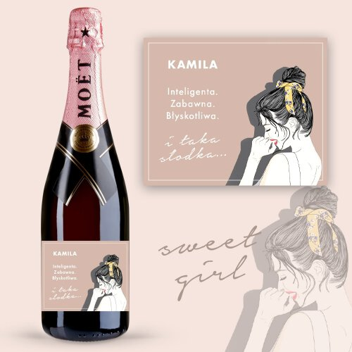 TAKA SŁODKA SZAMPAN MOËT & CHANDON ROSE IMPERIAL