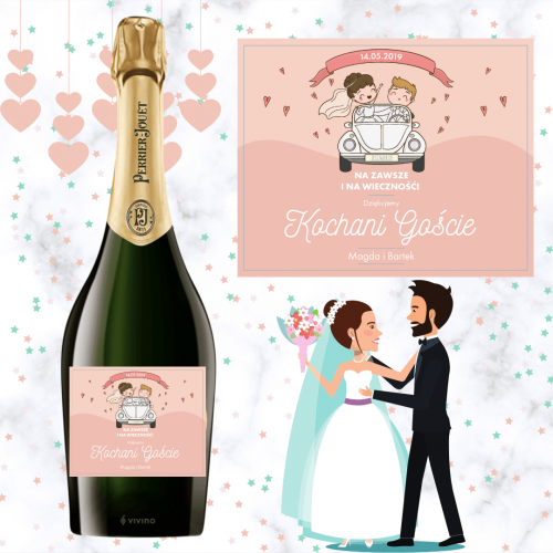 JUST MARRIED SZAMPAN PERRIER JOUET GRAND BRUT