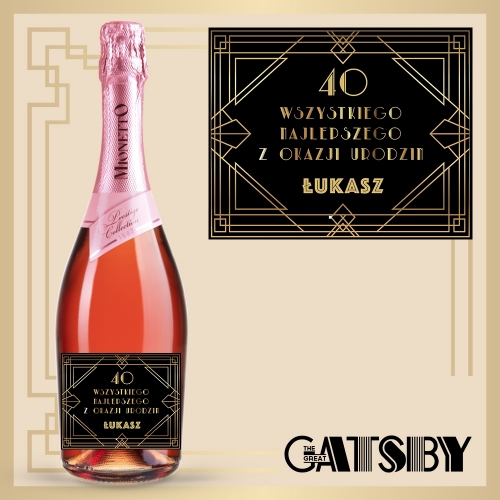 GREAT GATSBY! PROSECCO MIONETTO ROSÉ