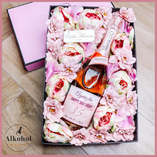 BIRTHDAY GIRL MIONETTO ROSÉ FLOWER BOX BY CALLA
