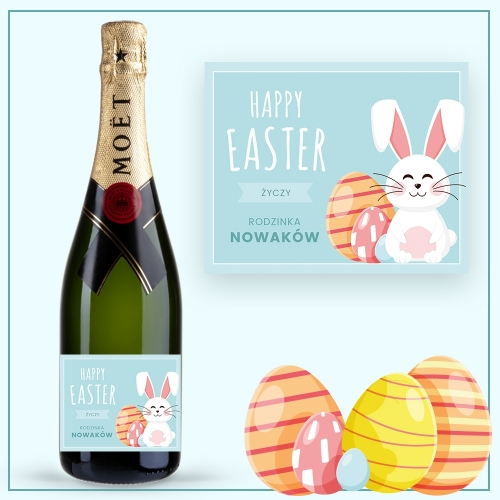 HAPPY EASTER SZAMPAN MOËT & CHANDON BRUT IMPERIAL