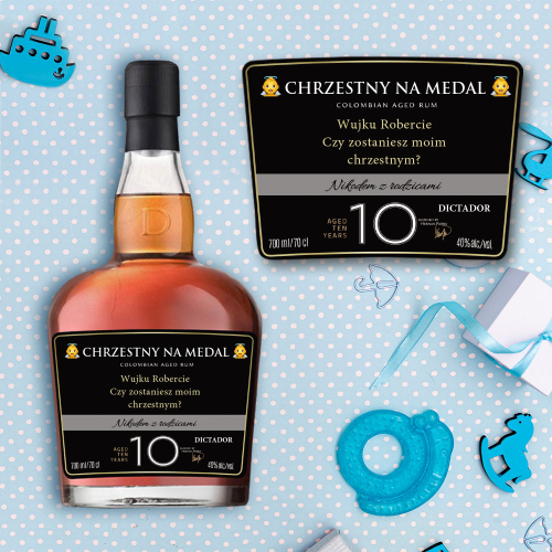 CHRZESTNY NA MEDAL DICTADOR COLOMBIAN AGED RUM