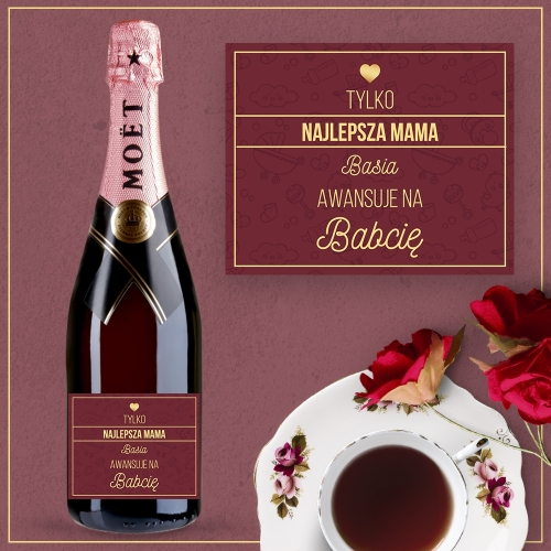 BABCIA SZAMPAN MOËT & CHANDON ROSE IMPERIAL