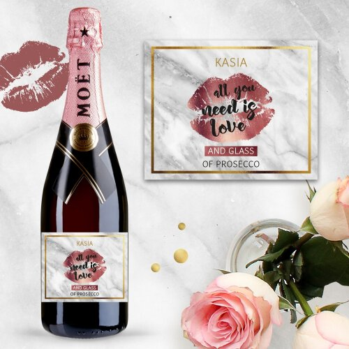 ALL YOU NEED IS LOVE AND SZAMPAN MOËT & CHANDON ROSE IMPERIAL