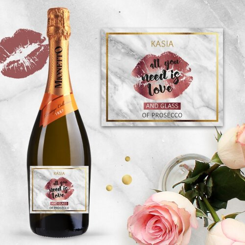 ALL YOU NEED IS LOVE AND PROSECCO MIONETTO D.O.C. TREVISO