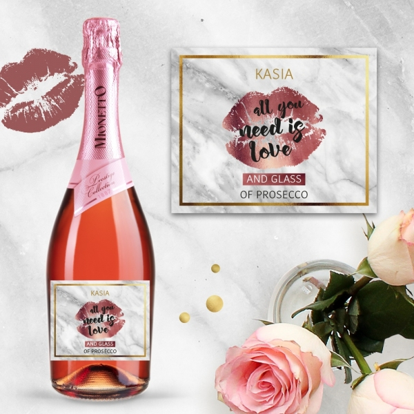 ALL YOU NEED IS LOVE AND PROSECCO MIONETTO ROSÉ