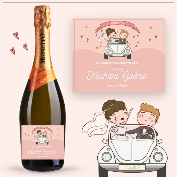 JUST MARRIED PROSECCO MIONETTO D.O.C. TREVISO